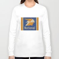 the national Long Sleeve T-shirts featuring National Logo by Bruce Stanfield