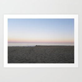 Winter Sunset By The Sea  Art Print