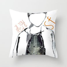ALL U NEED IS SF Throw Pillow