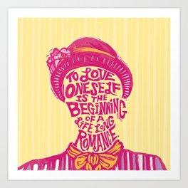 Love Oneself for a Lifelong Romance Art Print