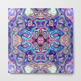 Colorful Abstract Symmetry Metal Print