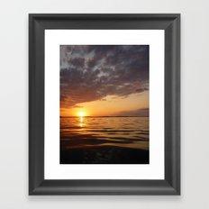 Sunset Swirl Framed Art Print