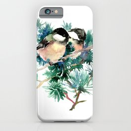 Chickadees in the Woods iPhone Case