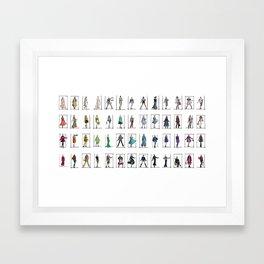 Fashion Rainbow Framed Art Print