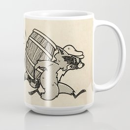 THE  WHISKEY SMUGGLER - vintage cartoon 80's Coffee Mug