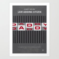 No738 My Law Abiding Citizen minimal movie poster Art Print