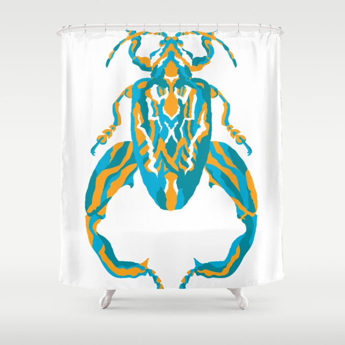 Sagra Beetle Psychedelic Bug 32 Besouro Independente Shower Curtain By Allanrodrigo