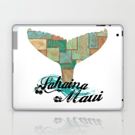 Lahaina,Maui Tapa Tribal Whales Tail Laptop & iPad Skin
