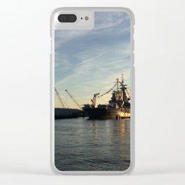 Wilmington, North Carolina - USS North Carolina Clear iPhone Case