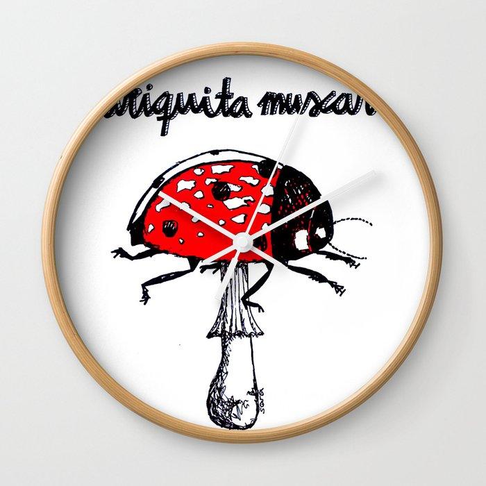 Mariquita muscaria Wall Clock