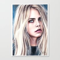 cara Canvas Prints featuring CARA by Laura Catrinella