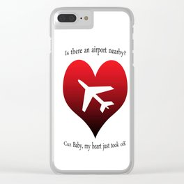 Cheesy Pick-Up Line Clear iPhone Case