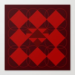 Abstract Heart Pattern Canvas Print
