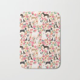 Bull Terrier dog breed pattern florals dog lover gifts pet friendly designs Bath Mat