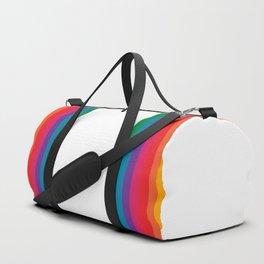 Retro Bright Rainbow - Straight Duffle Bag