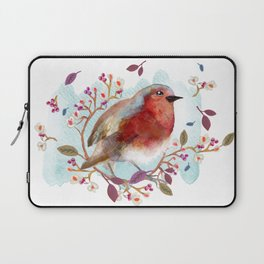 Robin - Bird Watercolor Laptop Sleeve