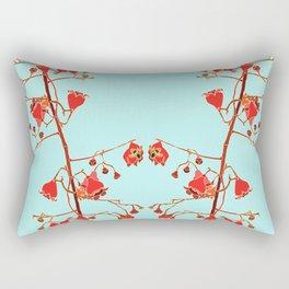 2941-Illawarra-Flame-Tree#1-Aqua Rectangular Pillow