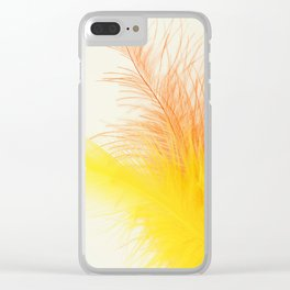Bird Feathers Clear iPhone Case