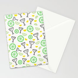 Margarita Cocktail Pattern Stationery Cards
