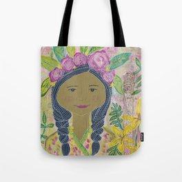 Warrior Spirit Zendaya Rose Tote Bag