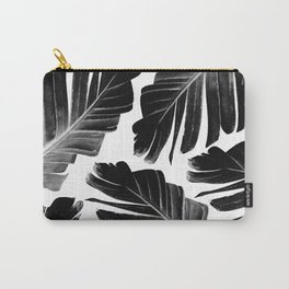 Tropical Black Banana Leaves Dream #1 #decor #art #society6 Carry-All Pouch