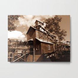 Runaway Mine Ride Metal Print