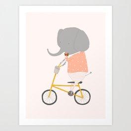 Margaux Rides Art Print