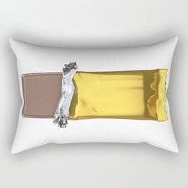 Chocolate candy bar in gold wrapper Rectangular Pillow