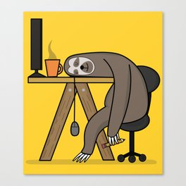 Office sloth Canvas Print