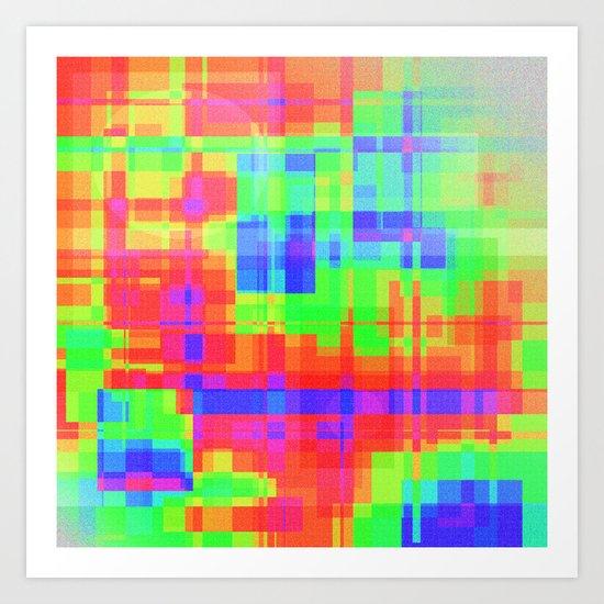Color squares Art Print