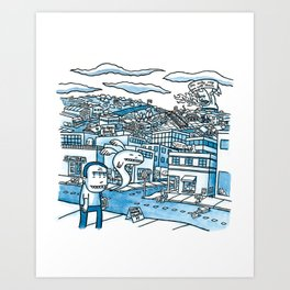 20x20 - On With, 2007 Art Print