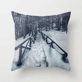 Snow path Throw Pillow