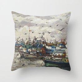 Fishing 6 Throw Pillow
