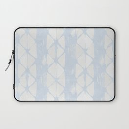 Simply Braided Chevron Sky Blue on Lunar Gray Laptop Sleeve