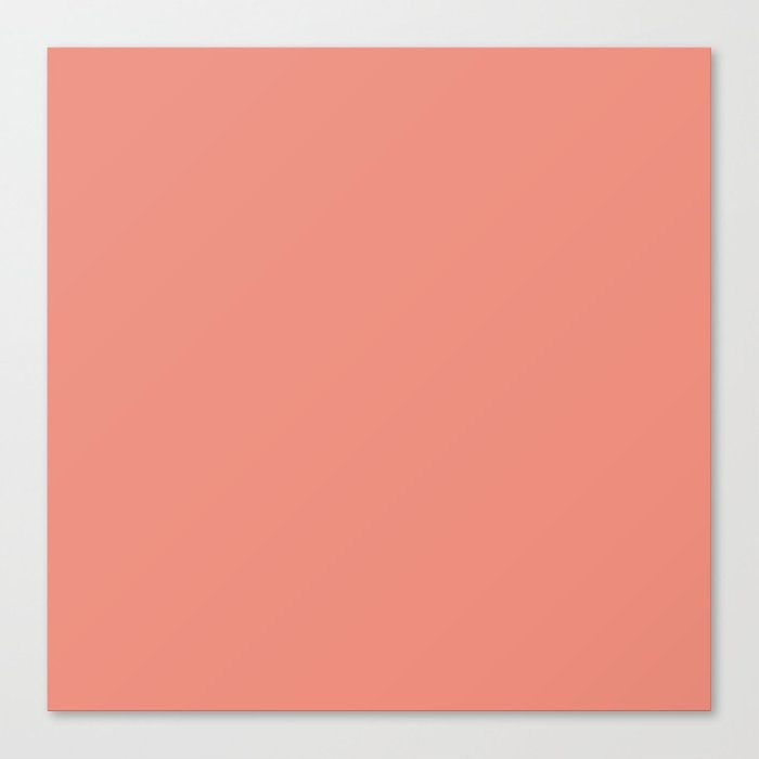 Muted coral. Leinwanddruck
