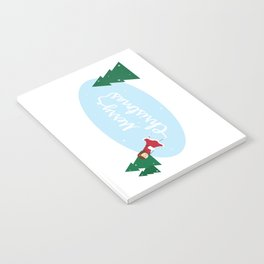Merry Christmas Ice Skater Notebook