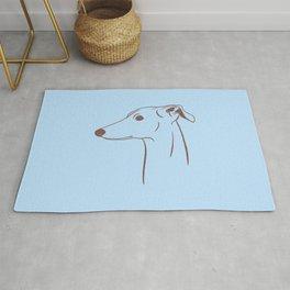 Italian Greyhound (Blue and Taupe) Rug