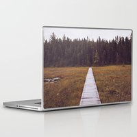 hiking Laptop & iPad Skins featuring Fall Hiking by Simon Laroche
