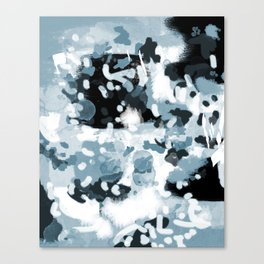 Minerva - abstract art home decor dorm college office minimal painting blue black white Canvas Print