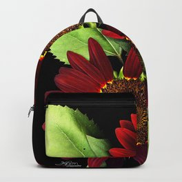 Fire Ring Sunflowers, Flower Scanography Backpack