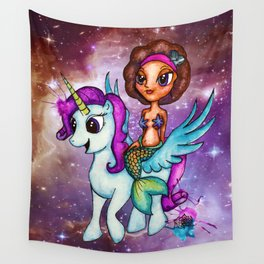 Riding Among the Stars Wall Tapestry