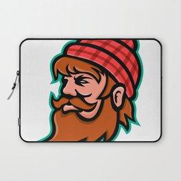 Paul Bunyan Lumberjack Mascot Laptop Sleeve