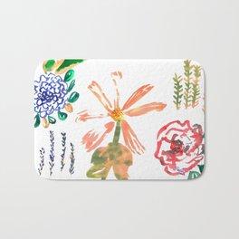 Mixed Florals Bath Mat