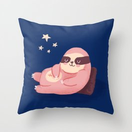 Sloth deams Throw Pillow