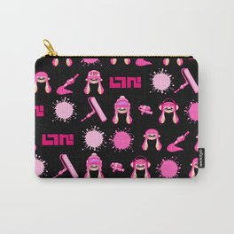 Team Pink Splatoon Pattern Carry-All Pouch
