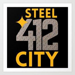 Pittsburgh 412 Steel City Pennsylvania Home Town Pride Art Print