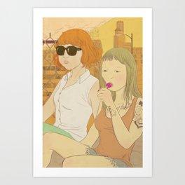 Urban Girls Art Print