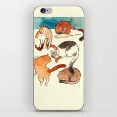 kitty card iPhone & iPod Skin