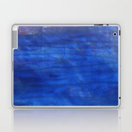 Denim Blue abstract watercolor background Laptop & iPad Skin