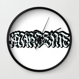 Marseille graffiti Wall Clock